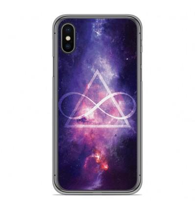 Coque en silicone pour Apple iPhone XS Max - Infinite Triangle