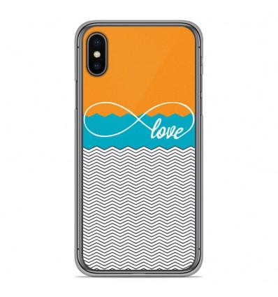 Coque en silicone Apple iPhone XS Max - Love Orange