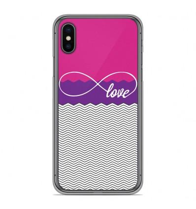 Coque en silicone Apple iPhone XS Max - Love Rose
