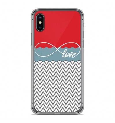 Coque en silicone Apple iPhone XS Max - Love Rouge