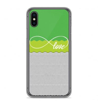 Coque en silicone pour Apple iPhone XS Max - Love Vert