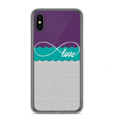 Coque en silicone Apple iPhone XS Max - Love Violet