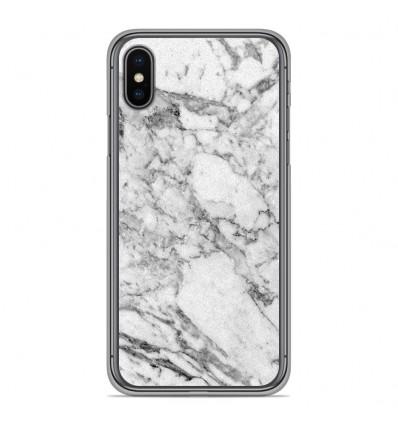 Coque en silicone pour Apple iPhone XS Max - Marbre Blanc