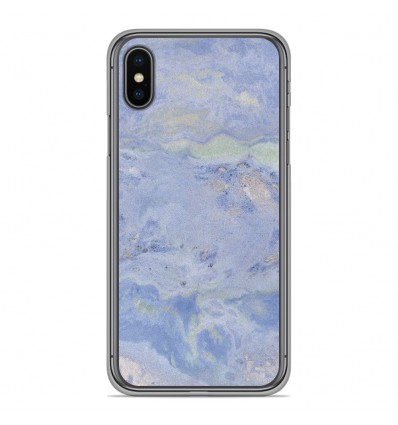 Coque en silicone Apple iPhone XS Max - Marbre Bleu