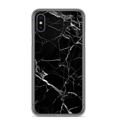 Coque en silicone pour Apple iPhone XS Max - Marbre Noir