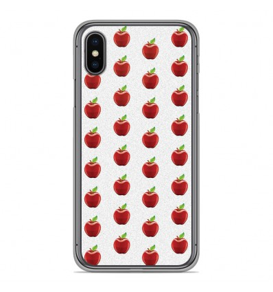 Coque en silicone Apple iPhone XS Max - Pomme Blanc