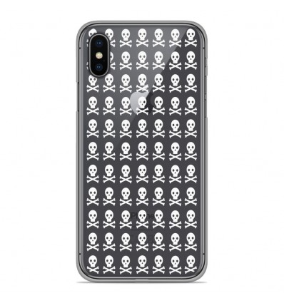Coque en silicone pour Apple iPhone XS Max - Skull blanc