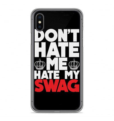 Coque en silicone pour Apple iPhone XS Max - Swag Hate