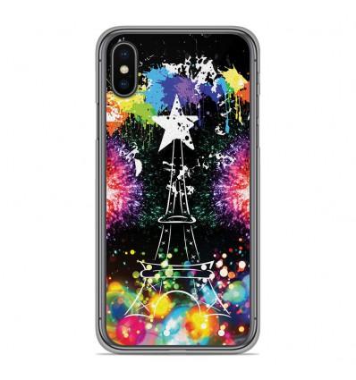 Coque en silicone pour Apple iPhone XS Max - Tour Eiffel