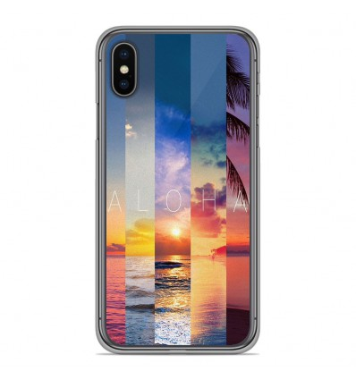 Coque en silicone Apple iPhone XS Max - Aloha