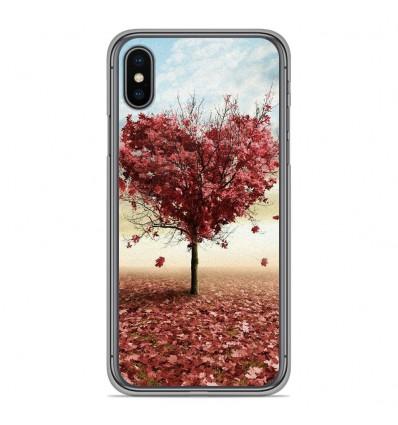 Coque en silicone pour Apple iPhone XS Max - Arbre Love