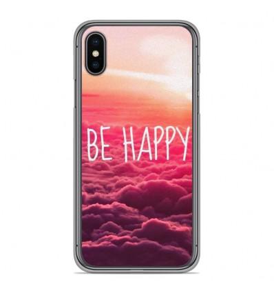 Coque en silicone Apple iPhone XS Max - Be Happy nuage