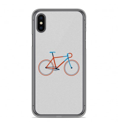 Coque en silicone Apple iPhone XS Max - Bike color Hipster