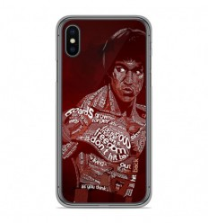 Coque en silicone Apple iPhone XS Max - Bruce lee