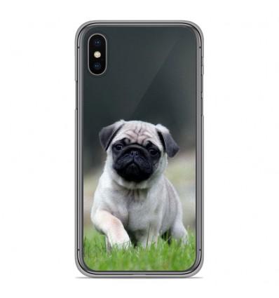 Coque en silicone Apple iPhone XS Max - Bulldog français