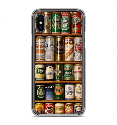 Coque en silicone Apple iPhone XS Max - Canettes