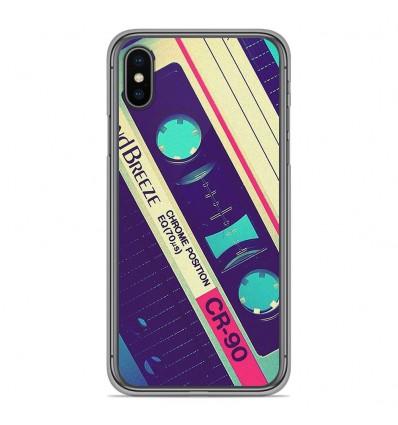 Coque en silicone pour Apple iPhone XS Max - Cassette Vintage