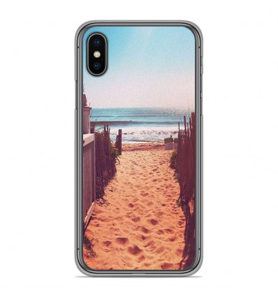 Coque en silicone Apple iPhone XS Max - Chemin de plage