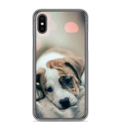Coque en silicone pour Apple iPhone XS Max - Chiot rêveur