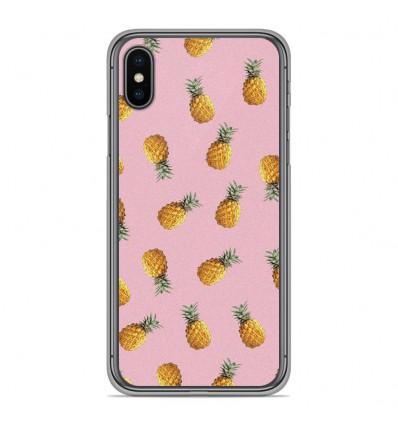 Coque en silicone Apple iPhone XS Max - Pluie d'ananas