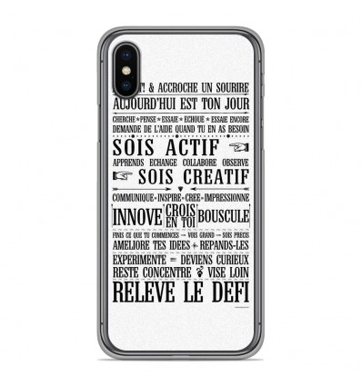 Coque en silicone Apple iPhone XS Max - Citation 11