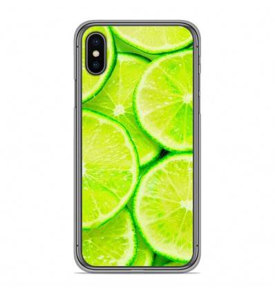 Coque en silicone Apple iPhone XS Max - Citron