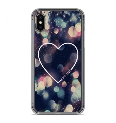Coque en silicone Apple iPhone XS Max - Coeur Love