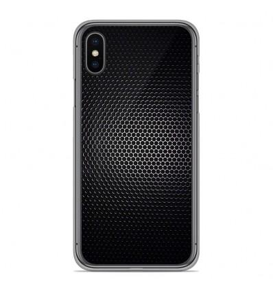 Coque en silicone Apple iPhone XS Max - Dark Metal