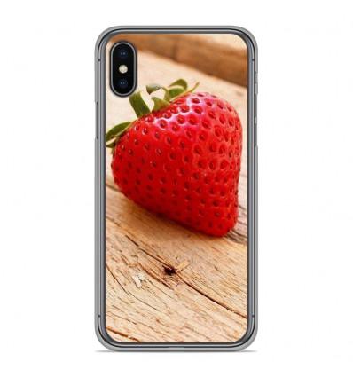 Coque en silicone Apple iPhone XS Max - Envie d'une fraise