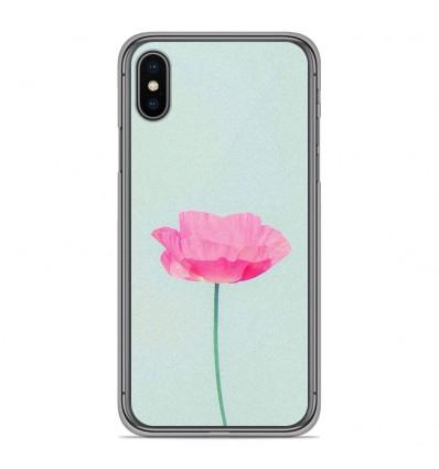 Coque en silicone pour Apple iPhone XS Max - Fleur Rose