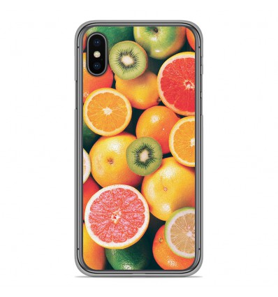 Coque en silicone Apple iPhone XS Max - Fruits