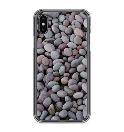 Coque en silicone pour Apple iPhone XS Max - Galets