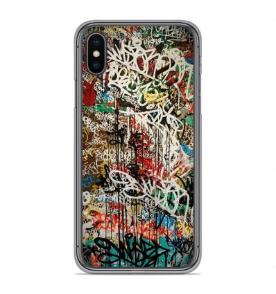 Coque en silicone Apple iPhone XS Max - Graffiti 1