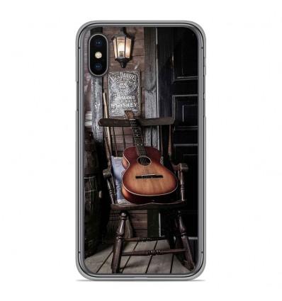Coque en silicone Apple iPhone XS Max - Guitare
