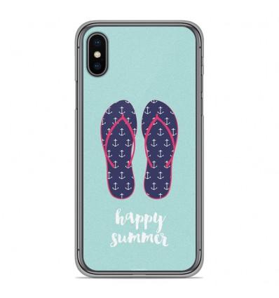 Coque en silicone pour Apple iPhone XS Max - Happy summer