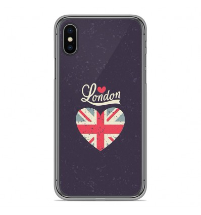 Coque en silicone pour Apple iPhone XS Max - I love London