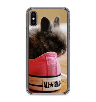 Coque en silicone pour Apple iPhone XS Max - Lapin allstar