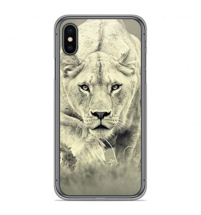 Coque en silicone pour Apple iPhone XS Max - Lionne
