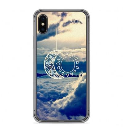 Coque en silicone Apple iPhone XS Max - Lune soleil