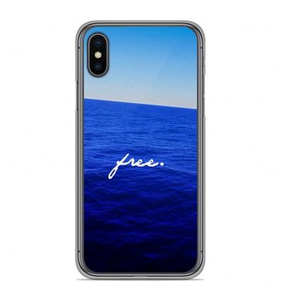 Coque en silicone pour Apple iPhone XS Max - Océan free