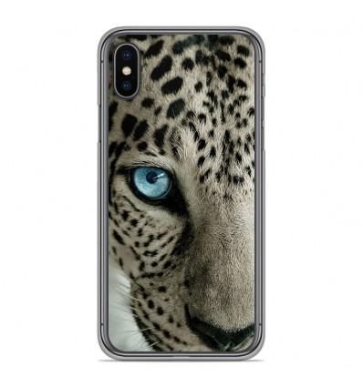 Coque en silicone pour Apple iPhone XS Max - Oeil de léopard