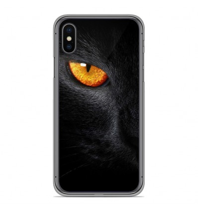 Coque en silicone Apple iPhone XS Max - Oeil de Panterre