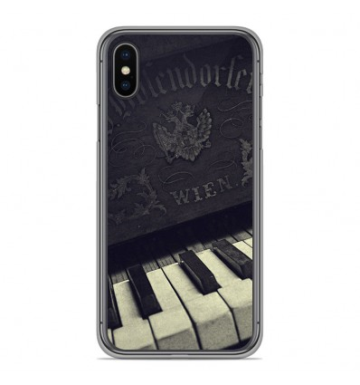 Coque en silicone pour Apple iPhone XS Max - Old piano