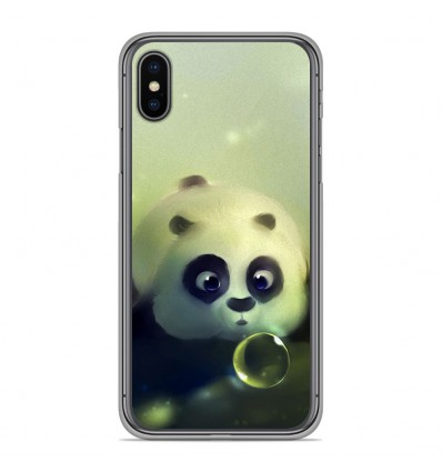 Coque en silicone Apple iPhone XS Max - Panda Bubble