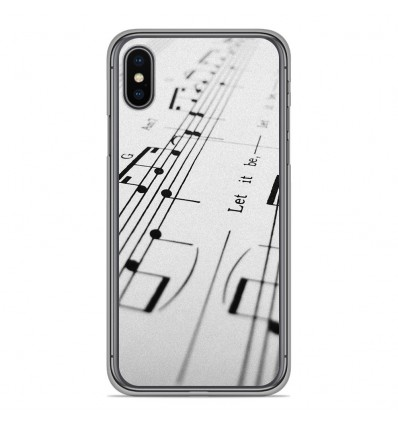 Coque en silicone Apple iPhone XS Max - Partition de musique