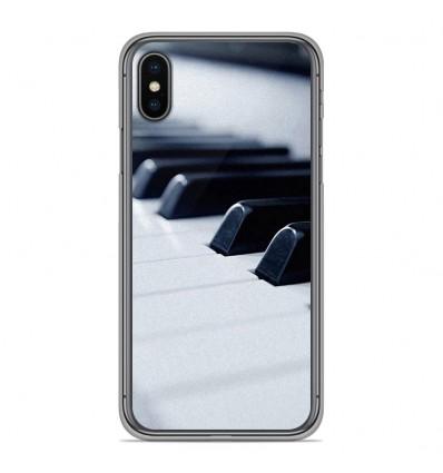 Coque en silicone Apple iPhone XS Max - Piano