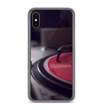 Coque en silicone Apple iPhone XS Max - Platine