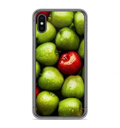 Coque en silicone pour Apple iPhone XS Max - Pommes