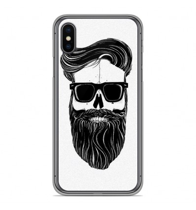 Coque en silicone pour Apple iPhone XS Max - Skull Hipster