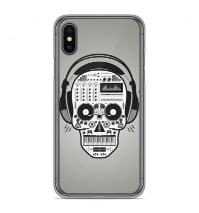 Coque en silicone Apple iPhone XS Max - Skull Music